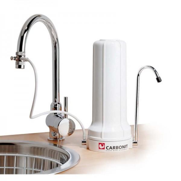 Carbonit Wasserfilter SanUNO inkl. Filtereinsatz Premium und Vitalisierer