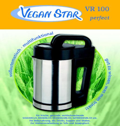 VEGAN STAR VR 100 Sojamilchautomat, vegane Milch selber herstellen