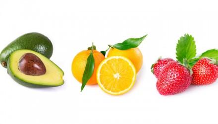 Orange-Erdbeer-Avocado-Traum