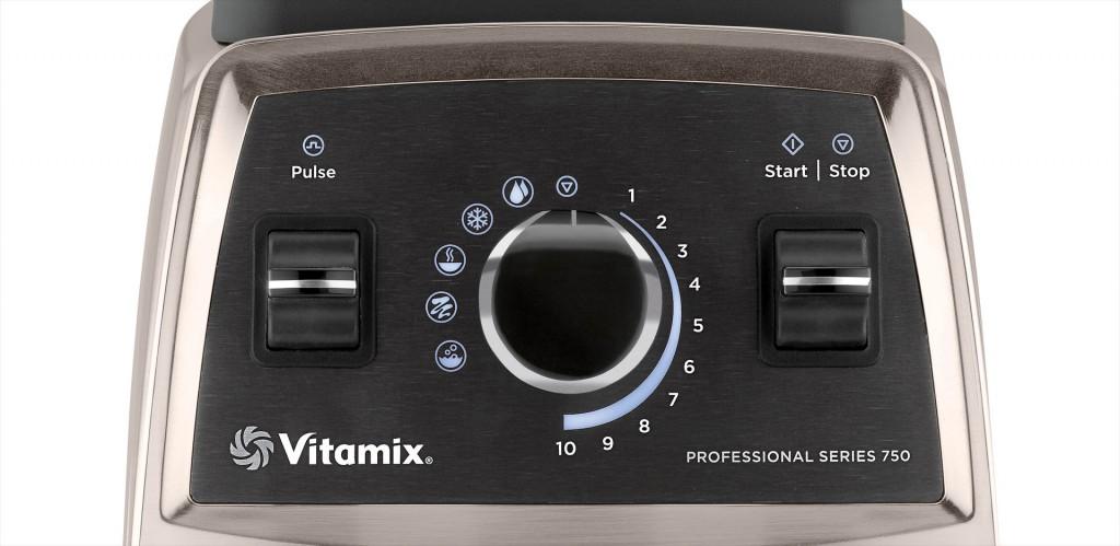 Bedienpanel des Vitamix Pro 750 | Vitamix Modell-Vergleich
