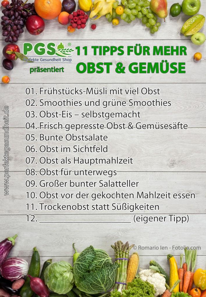11 Tipps wie Sie Ihren Obst- und Gemüseanteil erhöhen