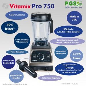 Vitamix Pro 750 Infografik der Features