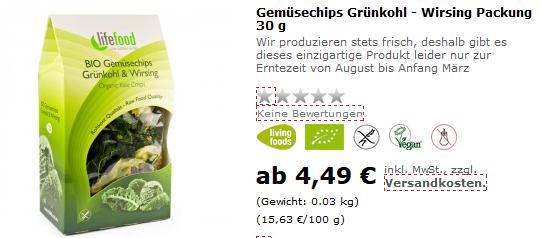 Grünkohl Chips