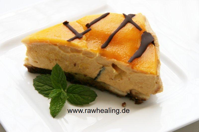 Mango-Papaya-Torte Rohkost rawhealing