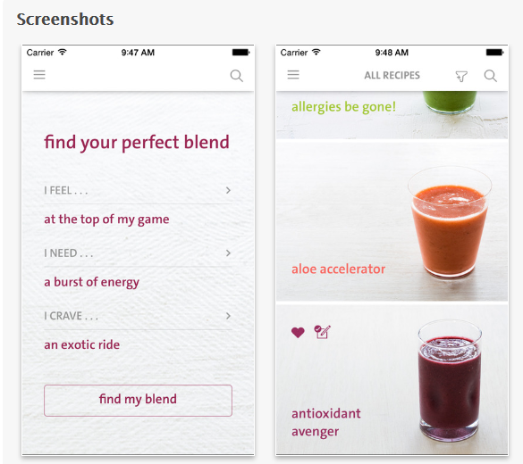 grüne Smoothies Apps - Blender Girl Screenshot