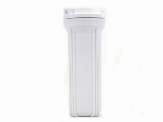 Filter Housing white 1/4 inch Connections 9,75 inch x 2,5 inch