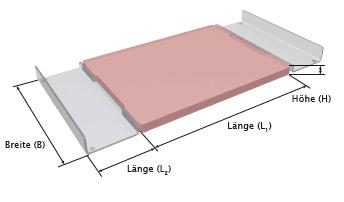 Royal Cut - Schneidbrett - Zeichnung / Abmessungen