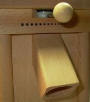 Verstellung einhändig! Schnitzer Pico Getreidemühle Buche