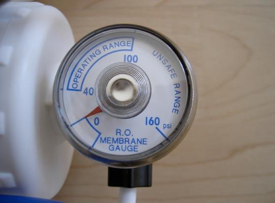 Umkehrosmose - Aqua Start Mobile 230 - Manometer