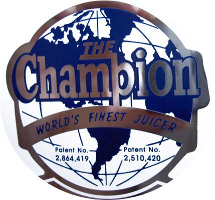 Champion Entsafter Saftpresse Logo / Champion Saftpresse / Champion-Entsafter