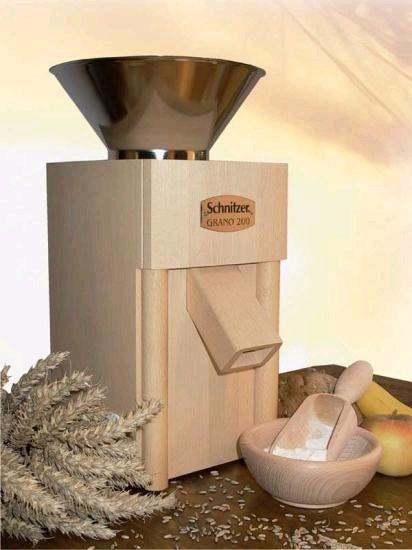 Schnitzer Grano 200 Getreidemühle mit Edelstahltrichter