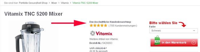 Vitamix Kundenmeinungen