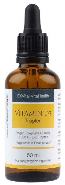 EXVital Vitamin D3 Tropfen Vegan