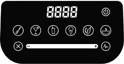 Blendtec Designer 650 Mixer Touch-Bedienfeld