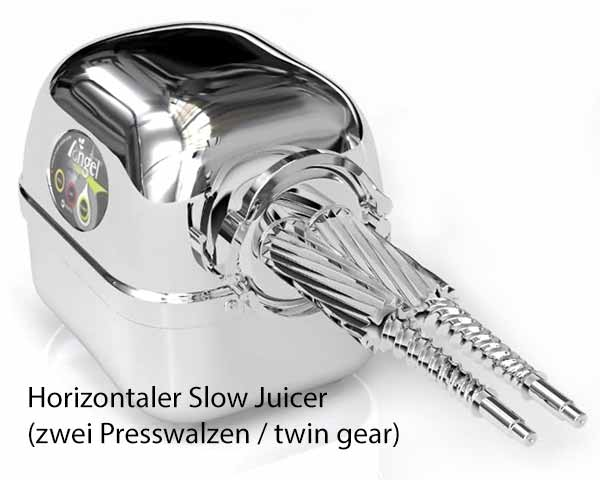 Horizontaler Slow Juicer Twin Gear