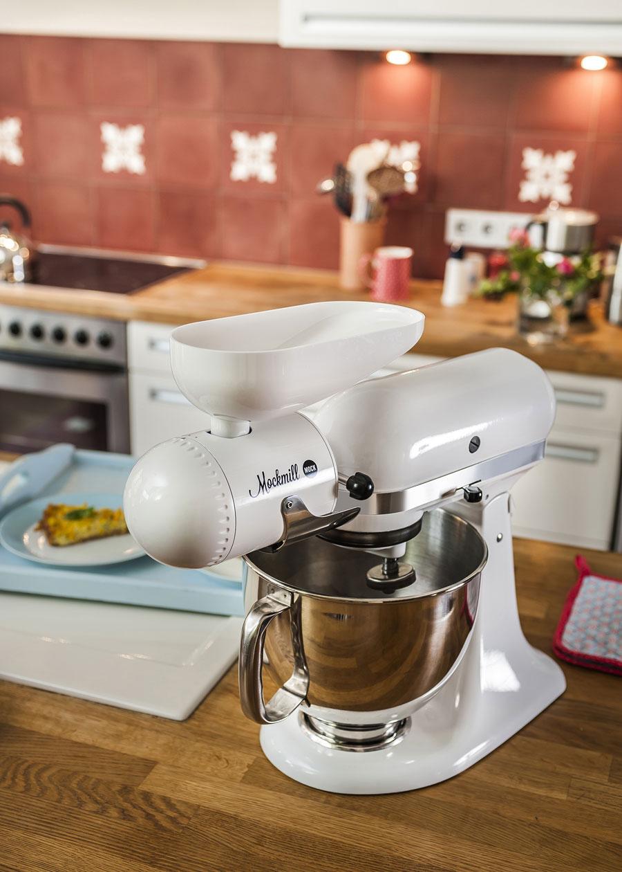 Mockmill - Getreide mahlen mit dem Mahvorsatz von Mock, passt an KitchenAid, Electrolux und AEG Küchenmaschinen