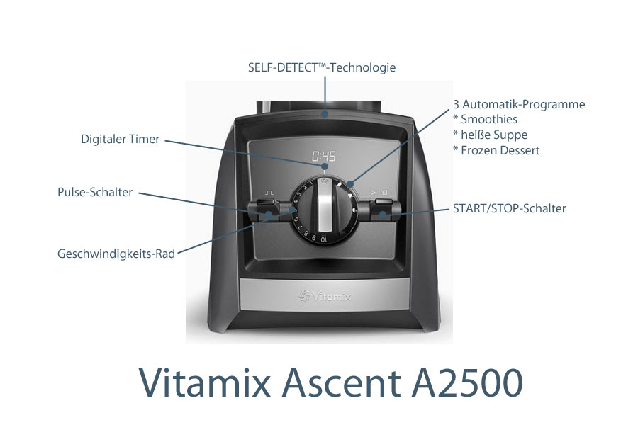 Vitamix Ascent 2500i Features