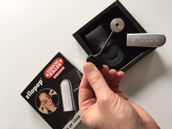 Zielonka zilopop Boss in Echtleder-Taschen (Geschenk-Verpackung) für frischen Atem - silber