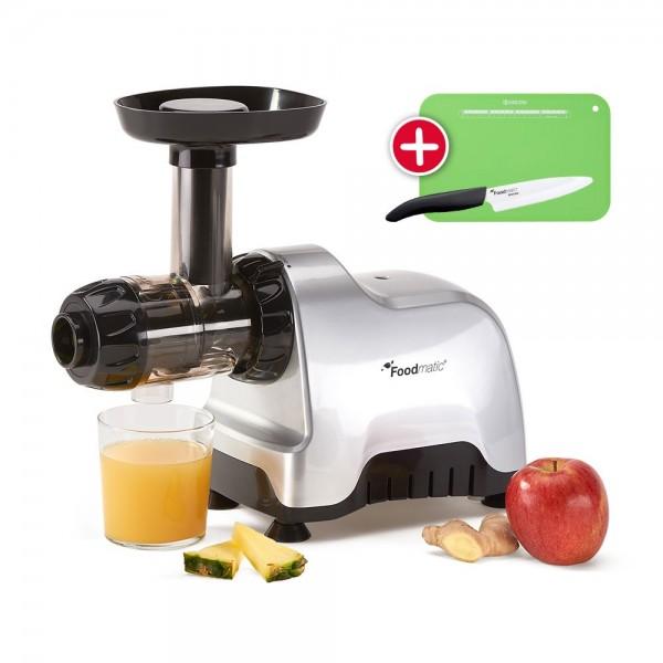 Foodmatic Personal Slow Juicer mit Gratis-Beigabe