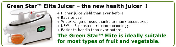 Green Star Elite Juicer Banner