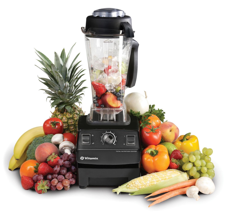 VitaMix Super TNC 5200 schwarz mit Obst und Gemüse