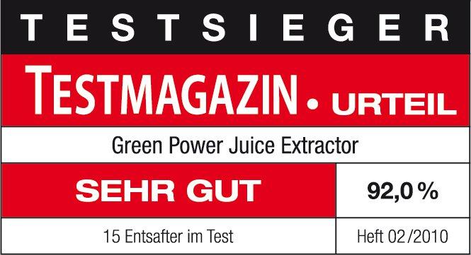 Green Power Kempo Testsieger Entsafter Saftpresse